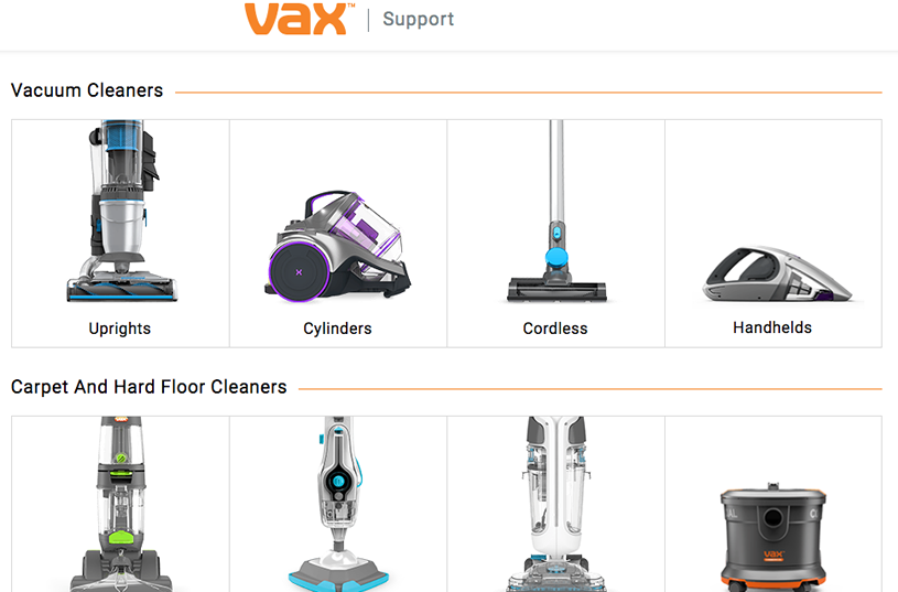 Support centre of Vax